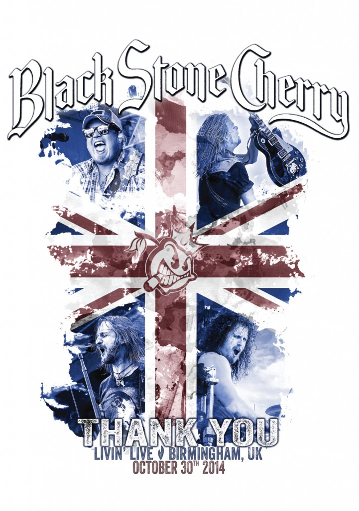 Black Stone Cherry Livin Live DVD cover (hr)