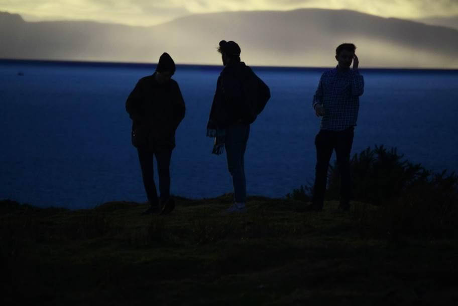 Promo photo of silhouette of Stillhound band