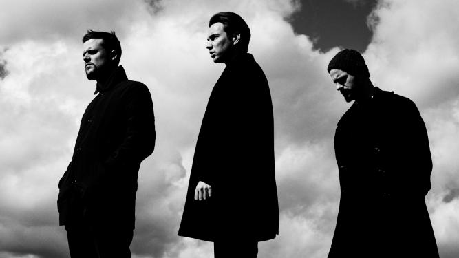 Promo image of White Lies band to advertise 2017 tour