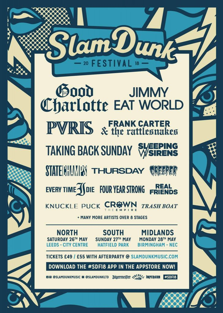 NEWS: Slam Dunk Adds Good Charlotte, Pvris and More To 2018
