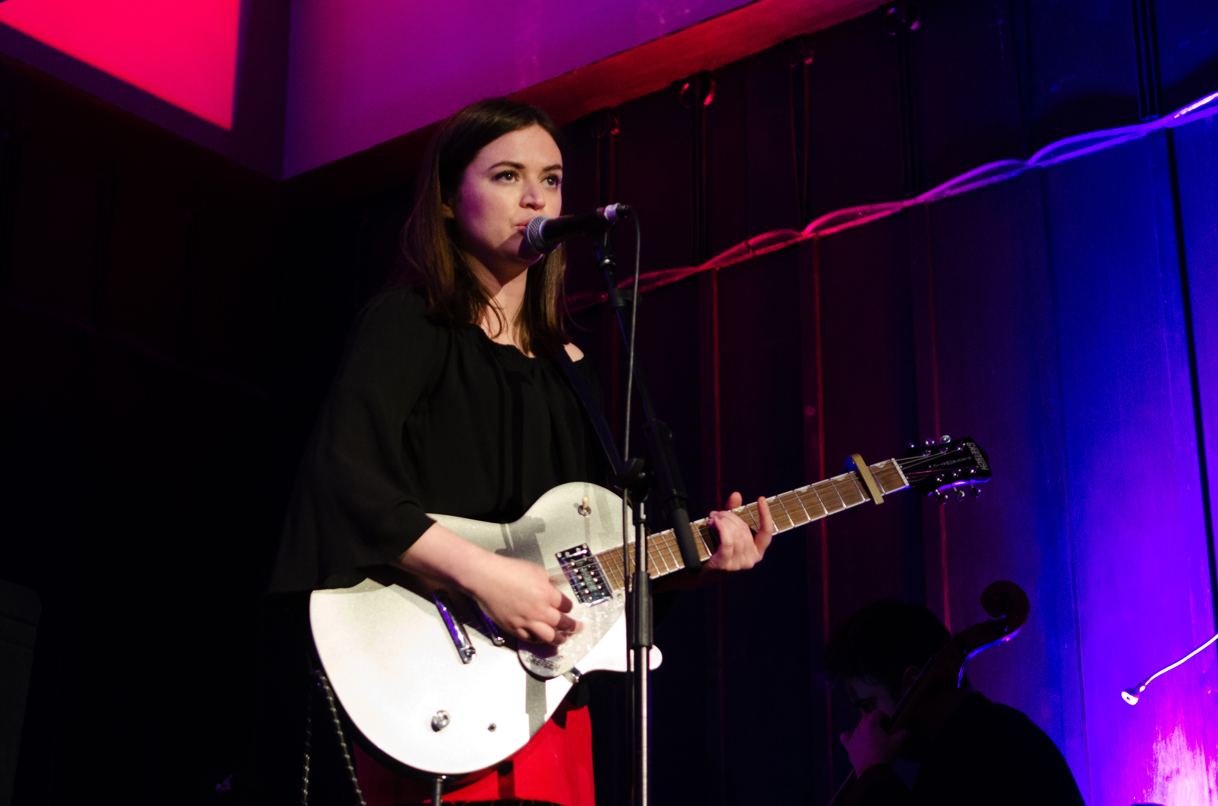 Siobhan Wilson on stage at The Mackintosh Church for Celtic Connections on 3 February 2018