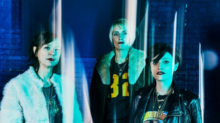Promo image of Ex Hex for Cosmic Cave single
