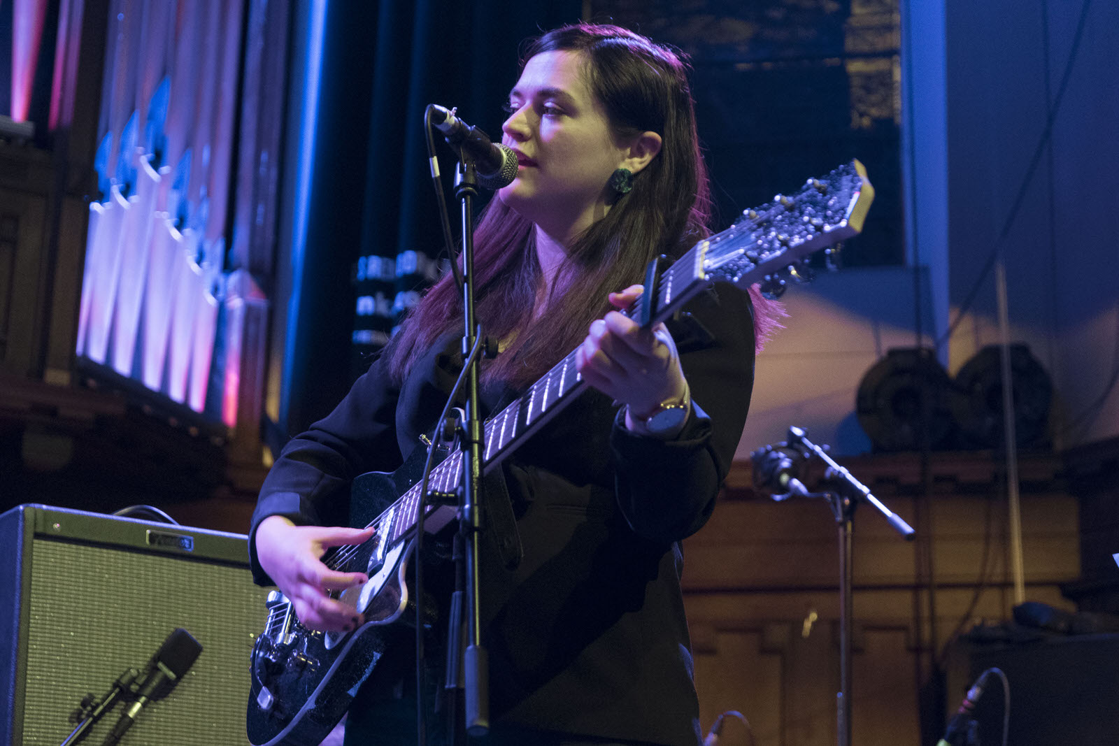 Photo of Siobhan Wilson on stage at Saint Luke's on 3 February 2019