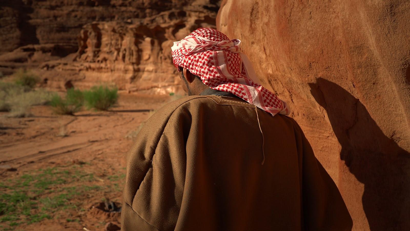 A Bedouin in the Wadi Rum