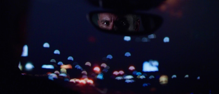 Russell looking in the rear view mirror